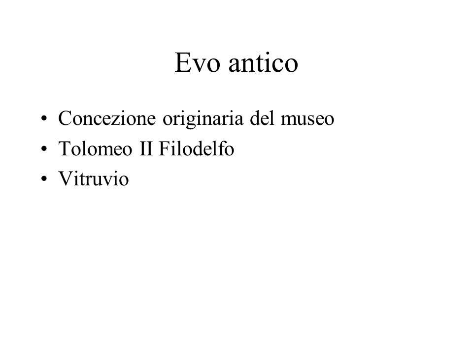 Evo antico Concezione originaria del museo Tolomeo II Filodelfo Vitruvio