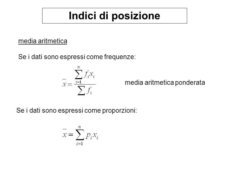 Distribuzione normale Esistono infinite curve normali (per ogni possibile media & dev.