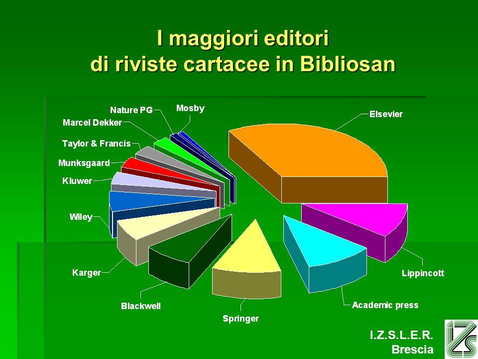 I.Z.S.L.E.R. Brescia I maggiori editori di riviste cartacee in Bibliosan