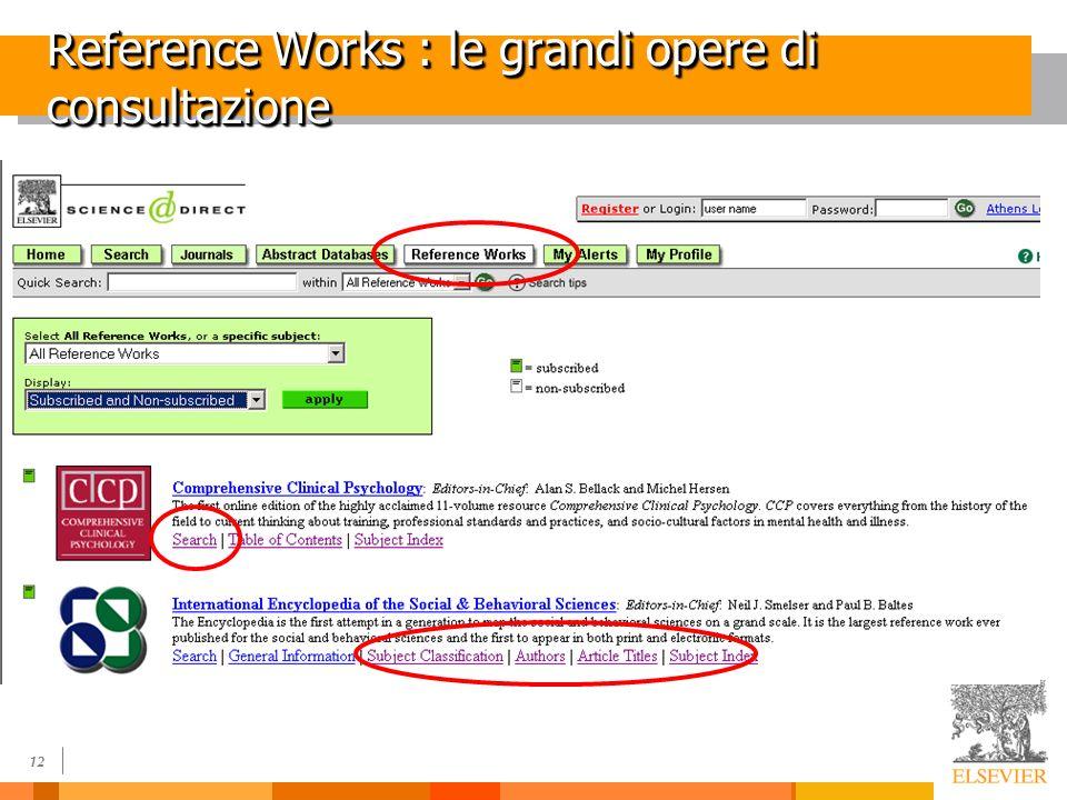12 Reference Works : le grandi opere di consultazione