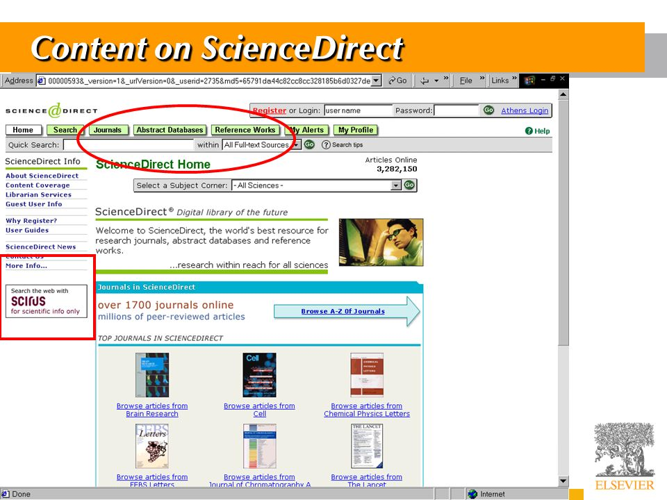 7 Content on ScienceDirect