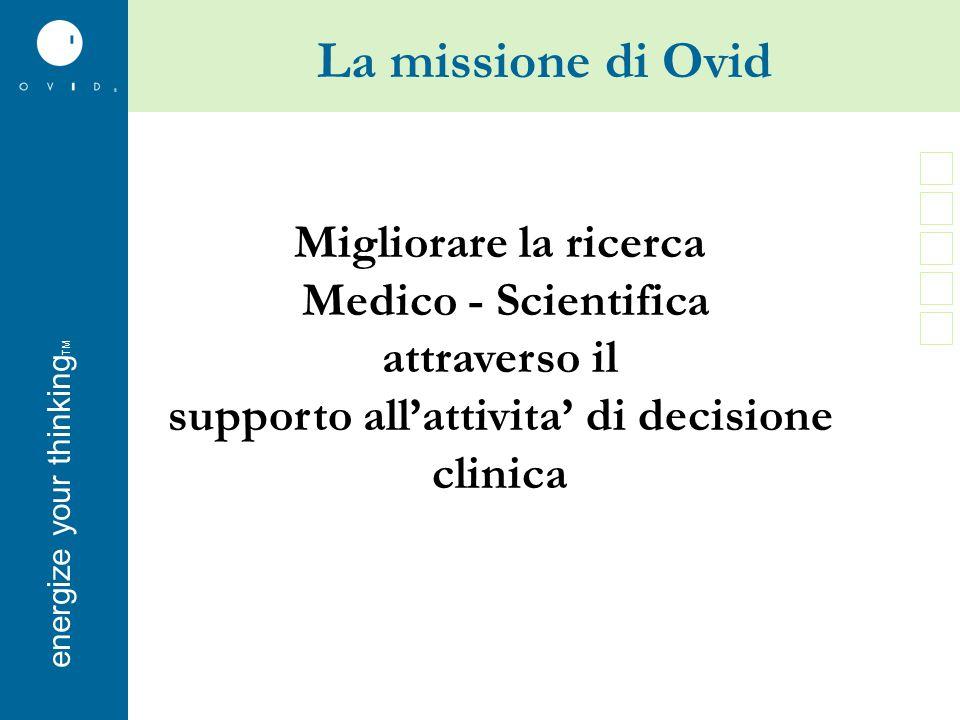 energise your thinkingenergize your thinking TM Nuova Interfaccia Ovid Pagina di ricerca