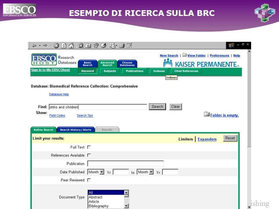 Ebsco Publishing ESEMPIO DI RICERCA SULLA BRC
