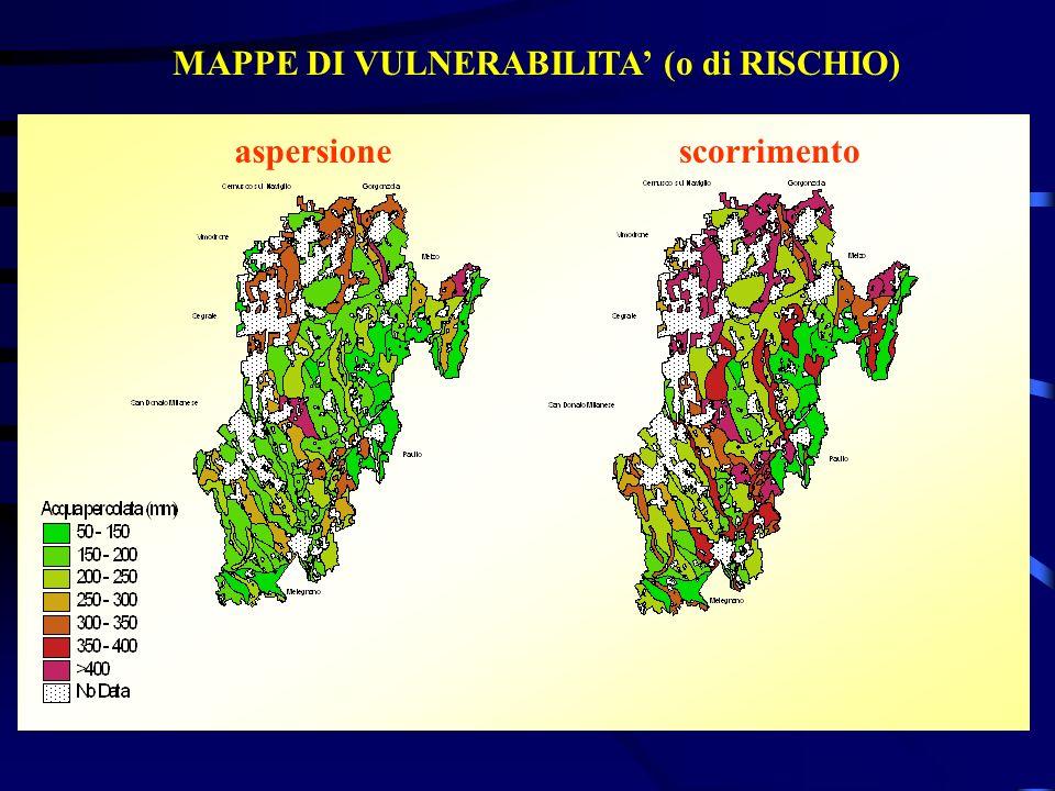 MAPPE DI VULNERABILITA (o di RISCHIO) aspersionescorrimento