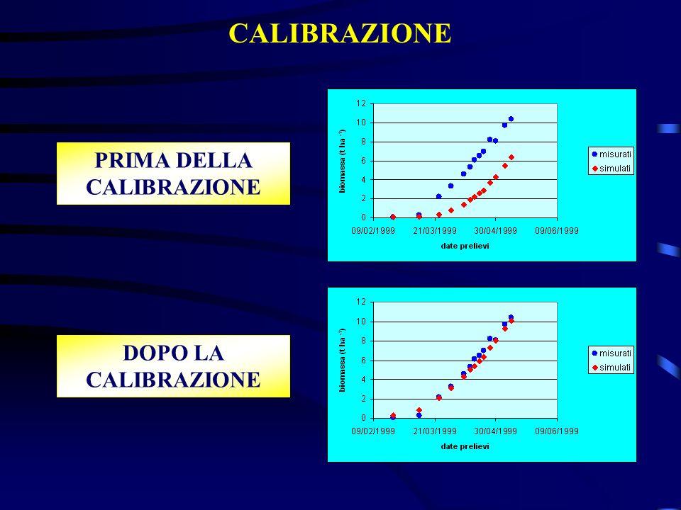 CALIBRAZIONE PRIMA DELLA CALIBRAZIONE DOPO LA CALIBRAZIONE