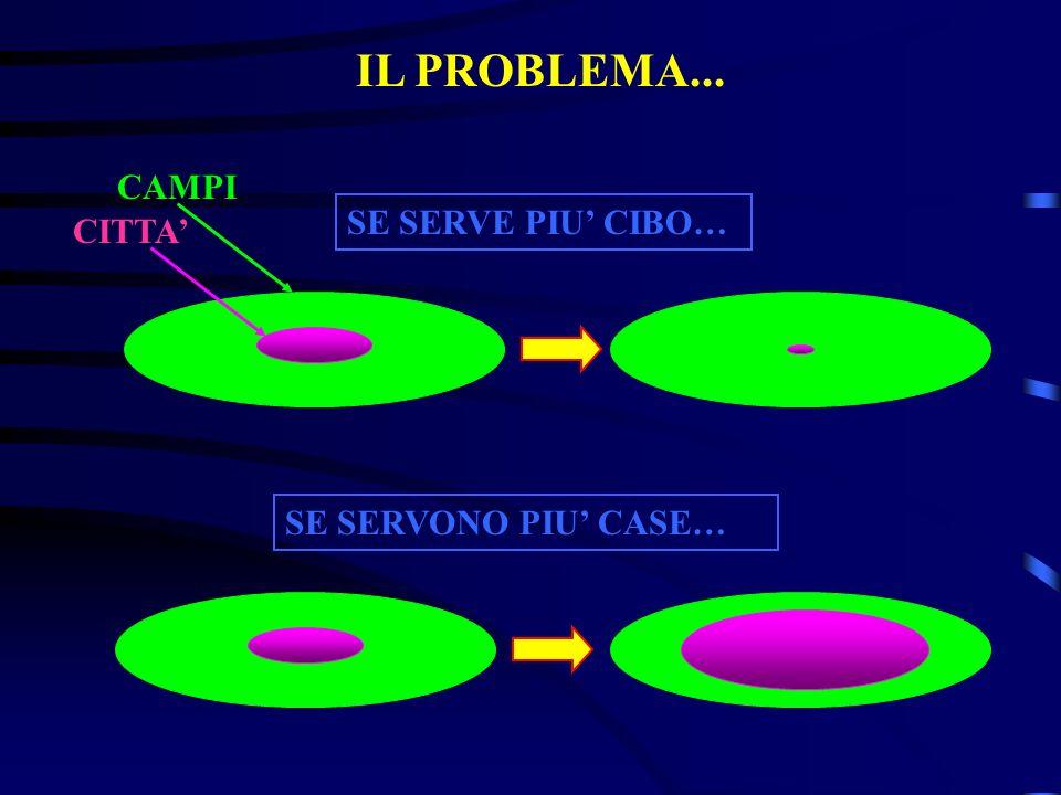 SE SERVE PIU CIBO… SE SERVONO PIU CASE… CAMPI CITTA IL PROBLEMA...