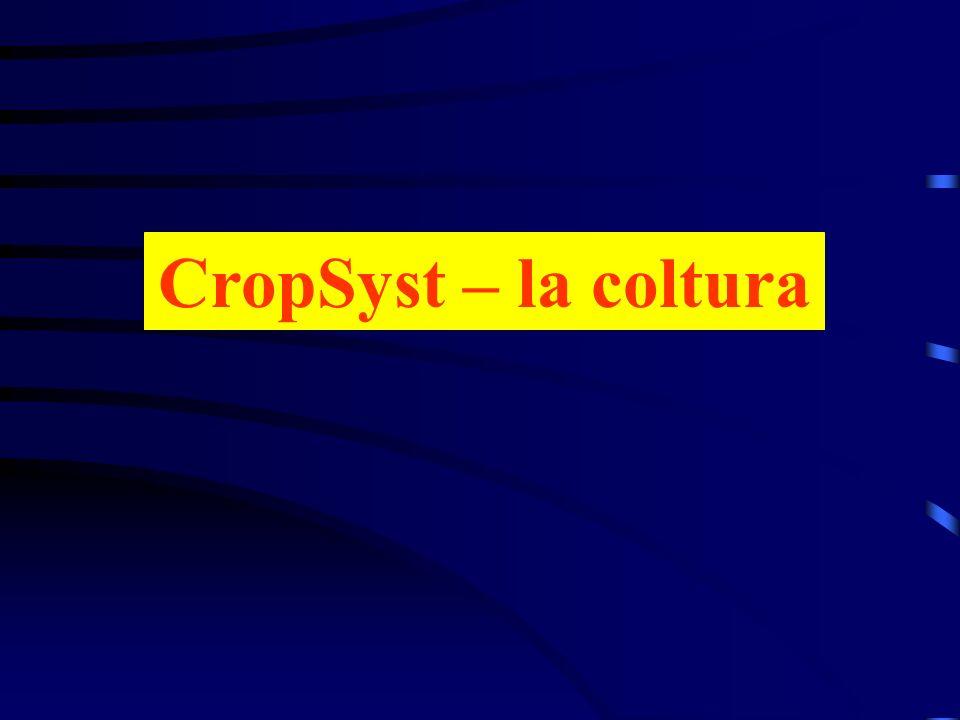 CropSyst – la coltura