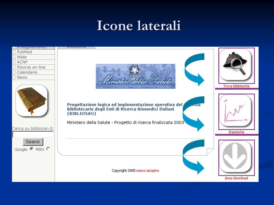Icone laterali Icone laterali