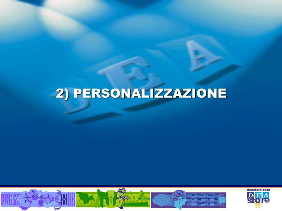 2) PERSONALIZZAZIONE