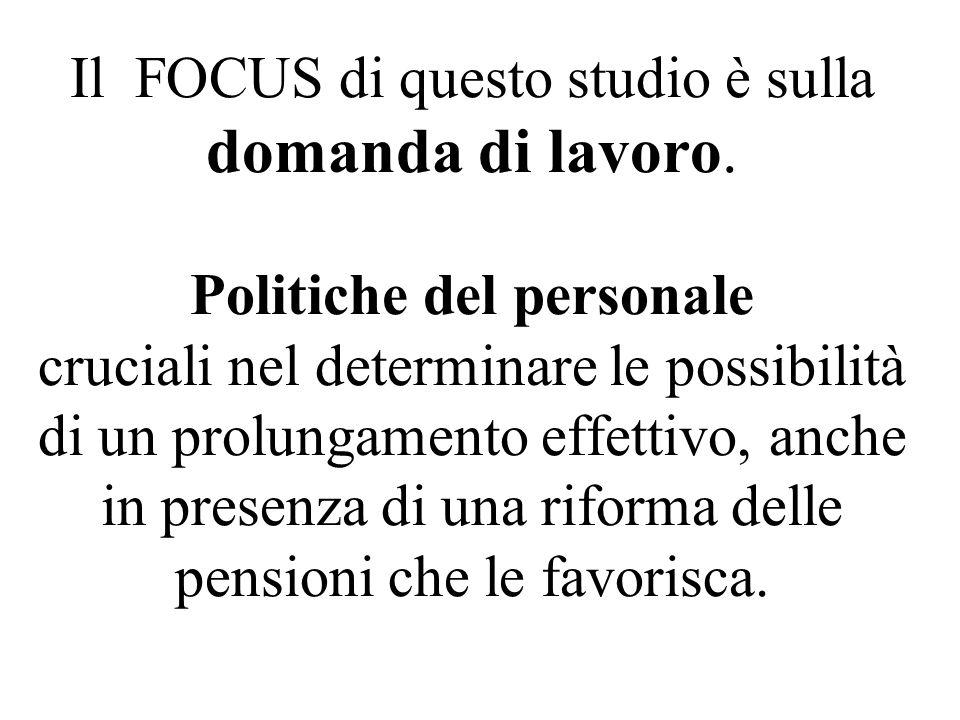Il FOCUS di questo studio è sulla domanda di lavoro.
