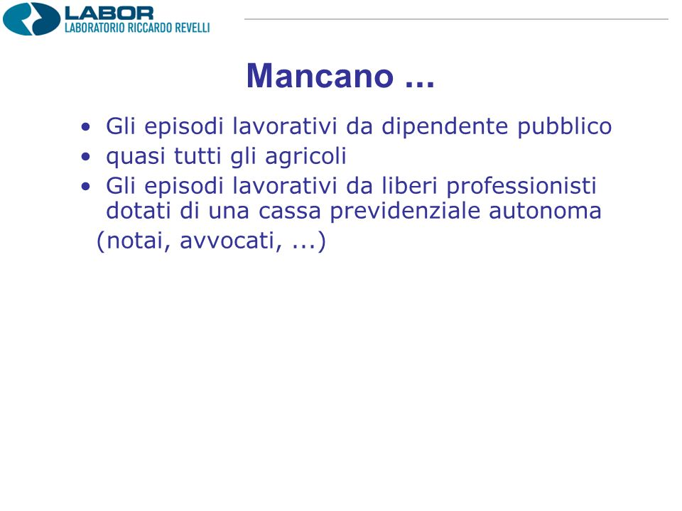 Mancano...