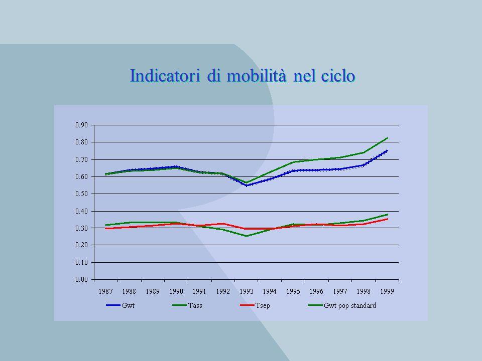 Indicatori di mobilità nel ciclo