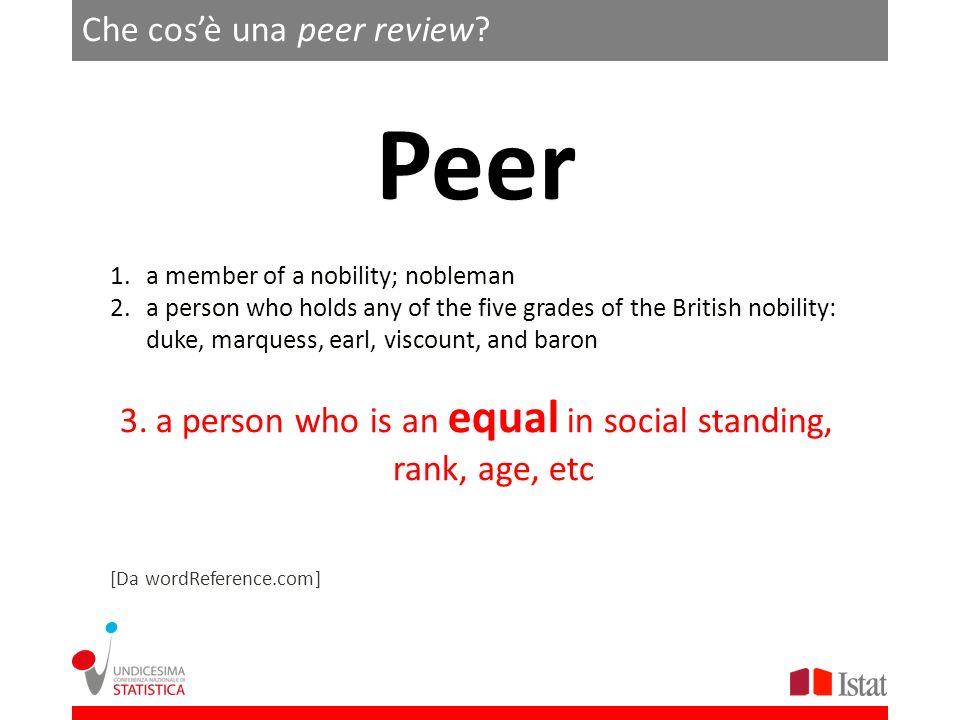 Che cosè una peer review.
