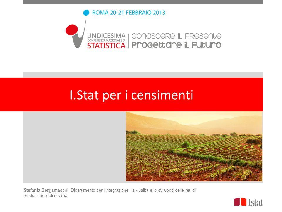 Stefania Bergamasco | Dipartimento per l'integrazione, la qualità e lo sviluppo delle reti di produzione e di ricerca I.Stat per i censimenti