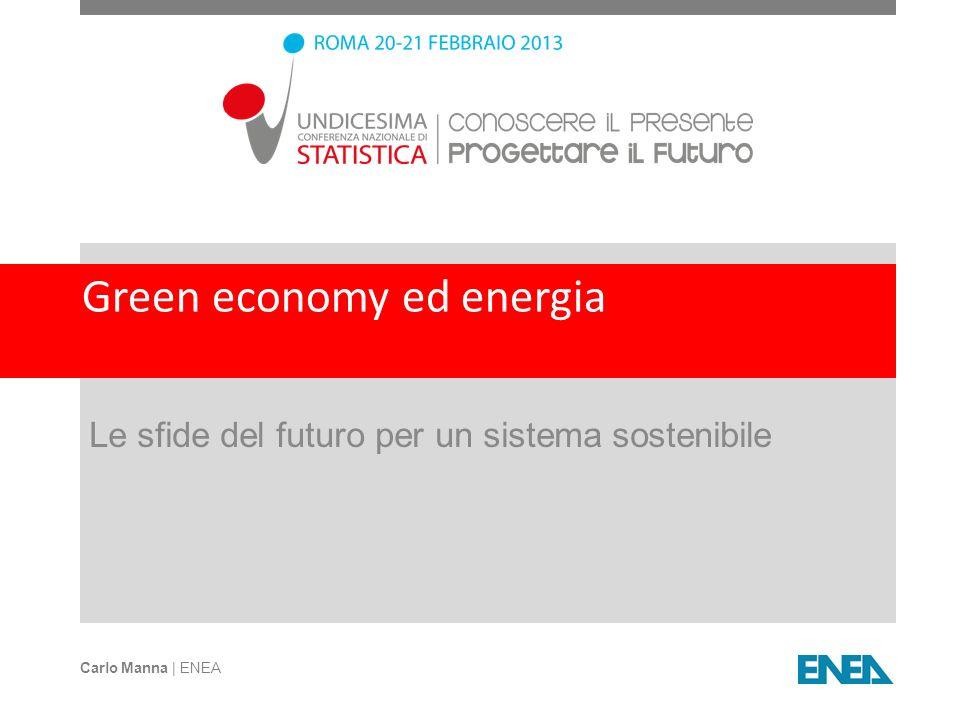 Green economy ed energia Le sfide del futuro per un sistema sostenibile Carlo Manna | ENEA