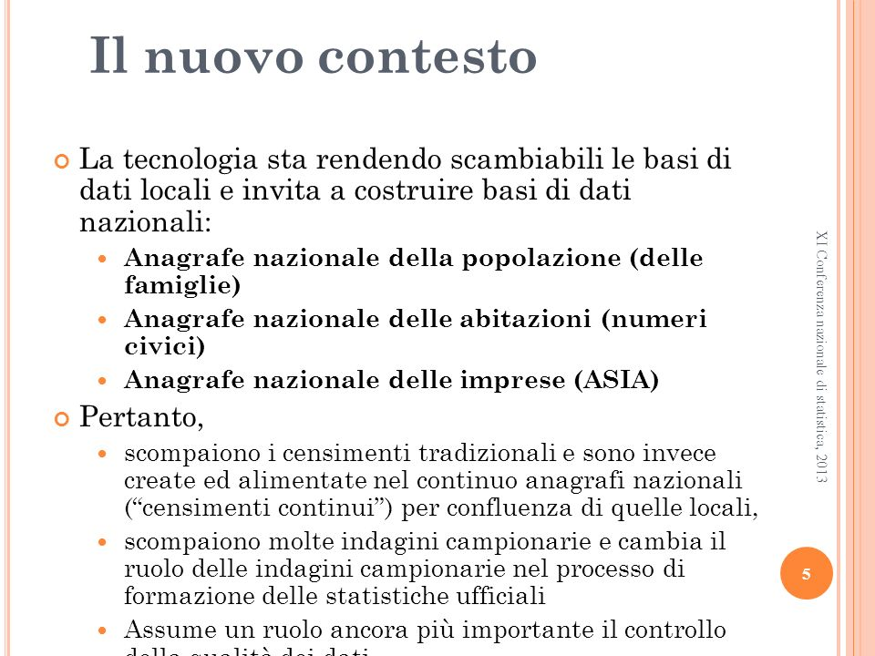 La confluenza delle anagrafi This is a bias This is a hot point