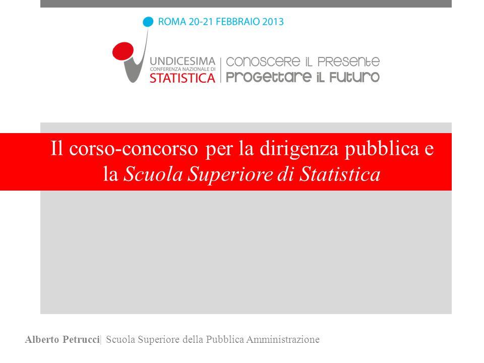 Il corso-concorso per la dirigenza pubblica e la Scuola Superiore di Statistica Alberto Petrucci| Scuola Superiore della Pubblica Amministrazione