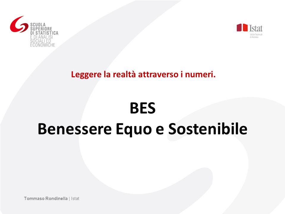 BES Benessere Equo e Sostenibile Leggere la realtà attraverso i numeri. Tommaso Rondinella | Istat