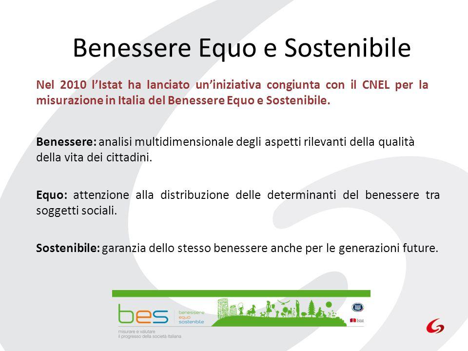 Benessere Equo e Sostenibile Benessere: analisi multidimensionale degli aspetti rilevanti della qualità della vita dei cittadini. Equo: attenzione all