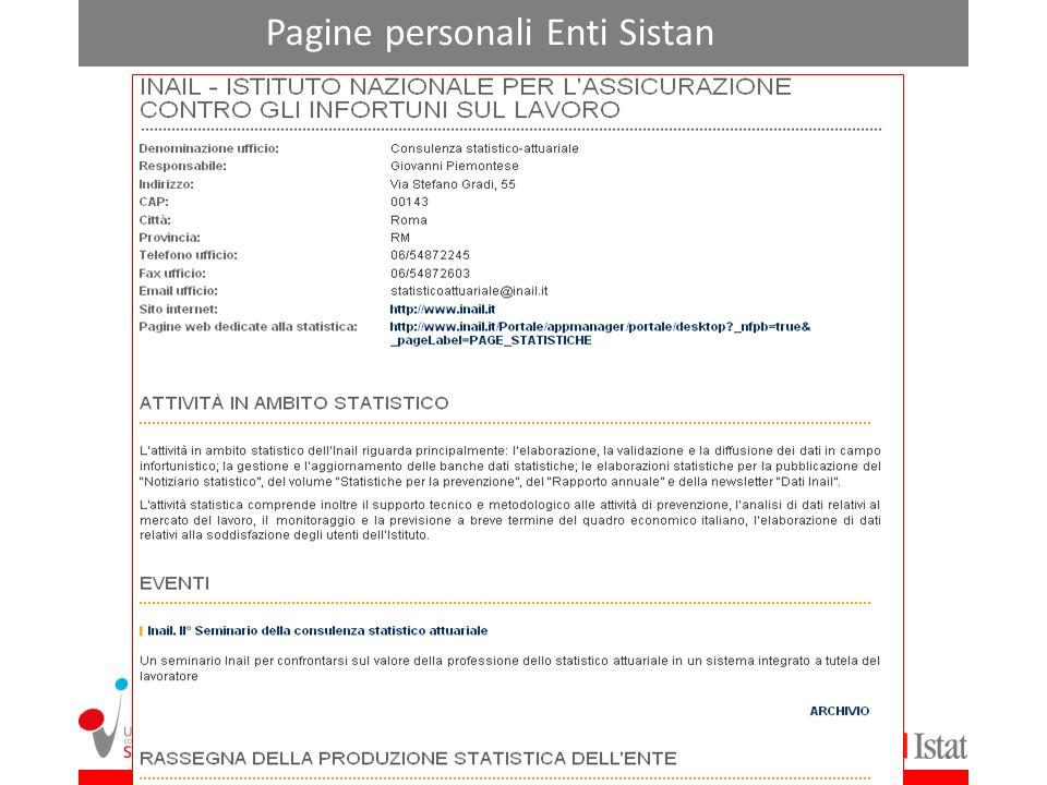 Pagine personali Enti Sistan