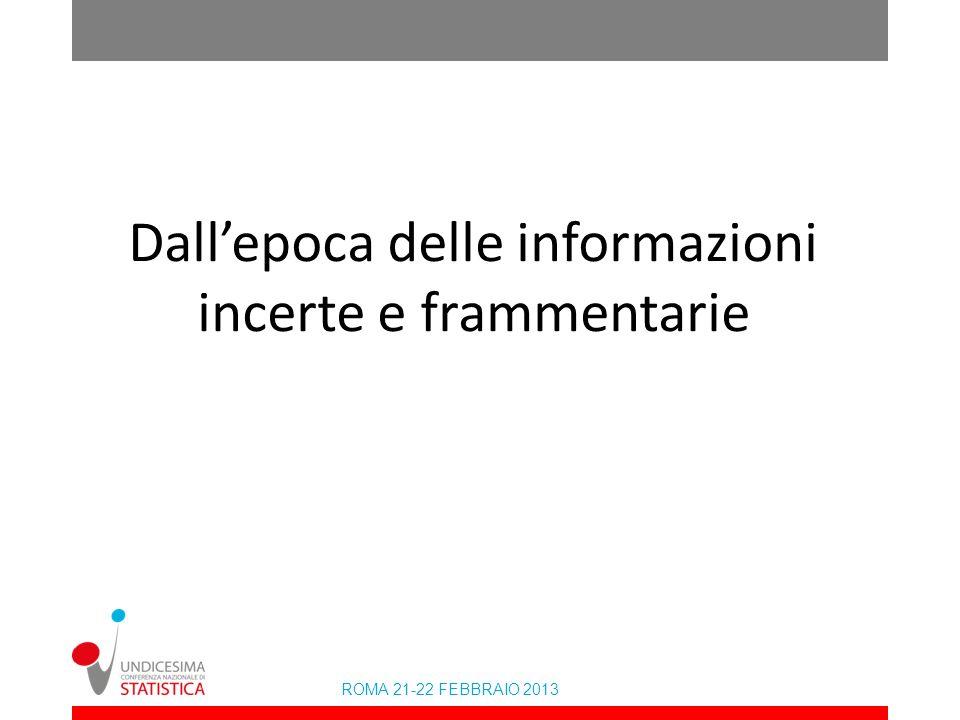 ROMA 21-22 FEBBRAIO 2013 La reale stima dellinvecchiamento importato (valori in migliaia tenuto conto delleffetto mortalità)