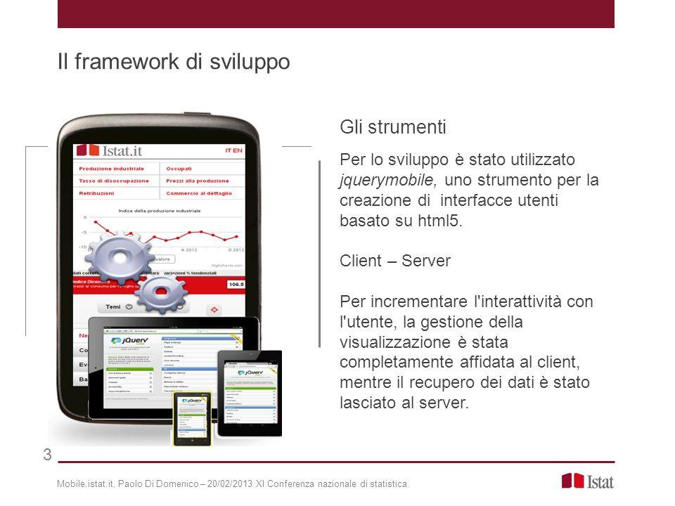 Gli strumenti Per lo sviluppo è stato utilizzato jquerymobile, uno strumento per la creazione di interfacce utenti basato su html5. Client – Server Pe
