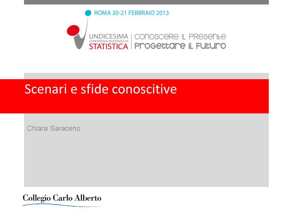 Scenari e sfide conoscitive Chiara Saraceno