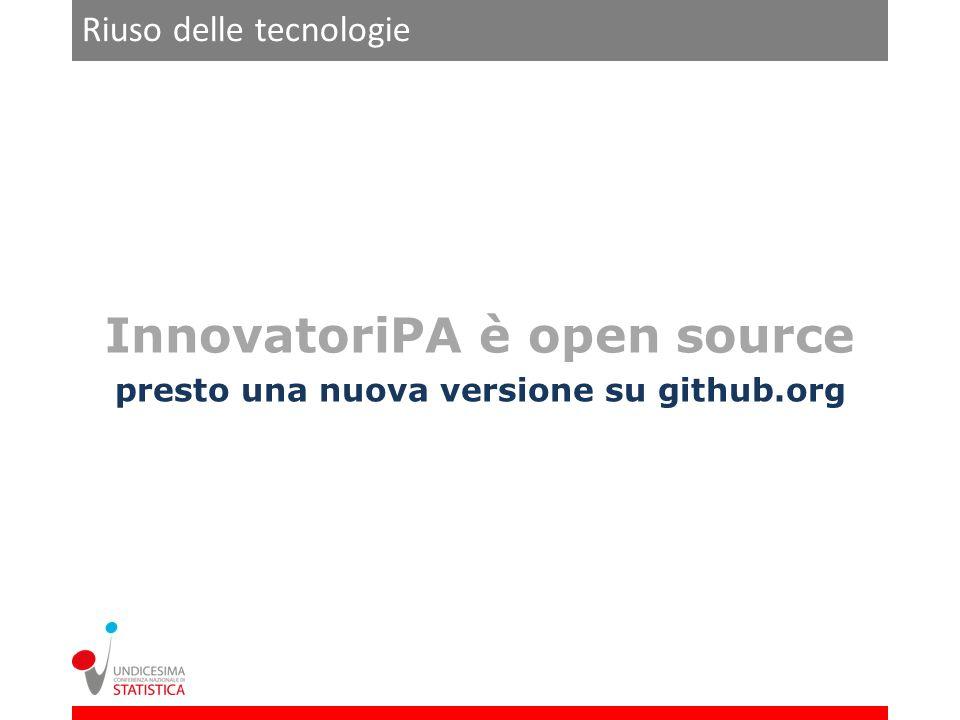 InnovatoriPA è open source presto una nuova versione su github.org Riuso delle tecnologie