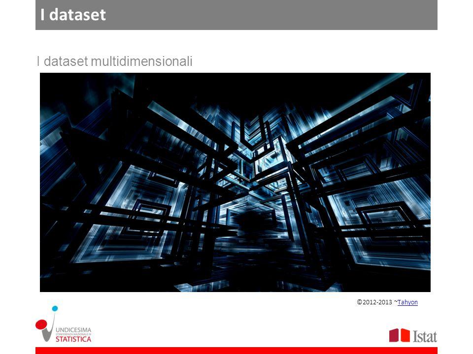 I dataset I dataset multidimensionali ©2012-2013 ~TahyonTahyon