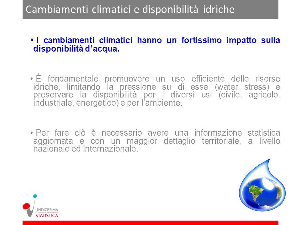 Fonte: Floerke et al, 2012 Scenario Economy First con una forte crescita economica con aumento delle pressioni antropiche sullambiente.