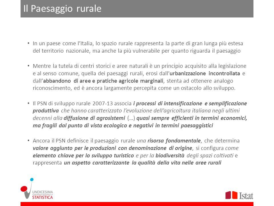 Il Paesaggio rurale In un paese come lItalia, lo spazio rurale rappresenta la parte di gran lunga più estesa del territorio nazionale, ma anche la più