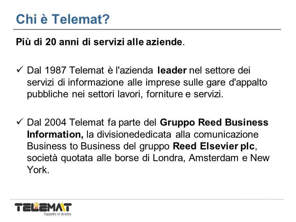 Chi è Telemat. Più di 20 anni di servizi alle aziende.