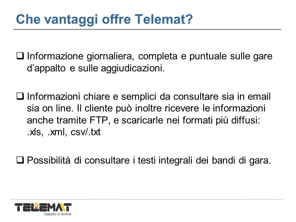 Che vantaggi offre Telemat.