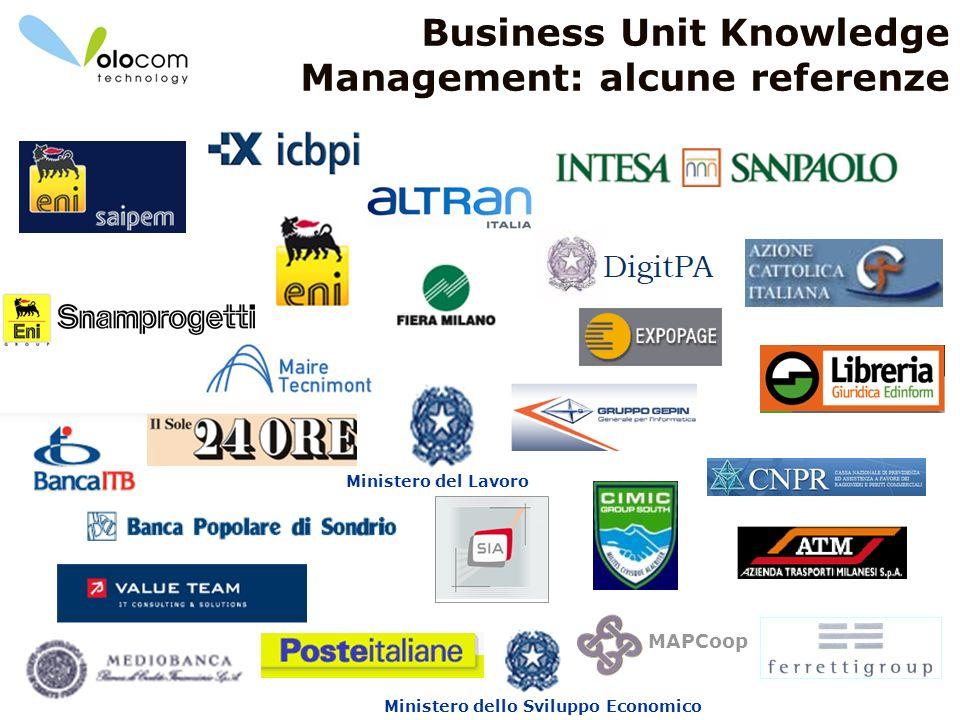 4 Business Unit Knowledge Management: alcune referenze Ministero dello Sviluppo Economico Ministero del Lavoro MAPCoop