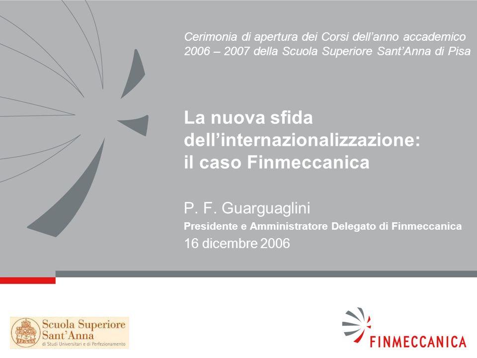 22 Acquisizione di società italiane in aree in cui Finmeccanica era di fatto assente (AerMacchi, Marconi Mobile, Telespazio, 30% di Avio).