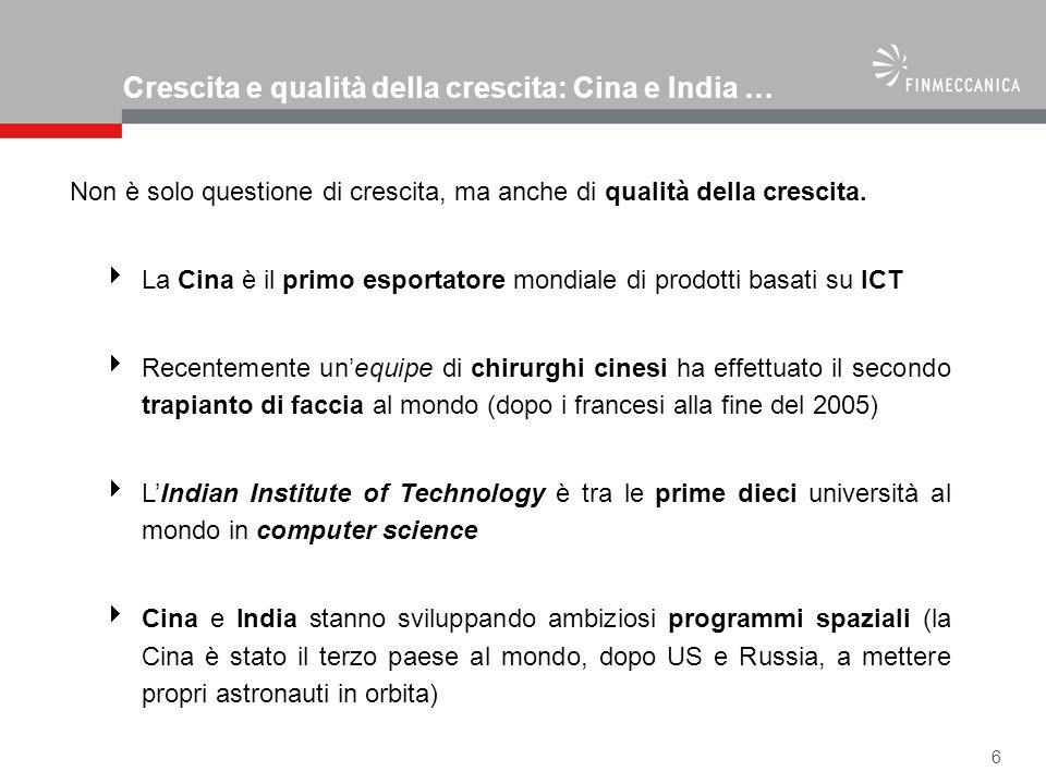17 Il percorso di Finmeccanica