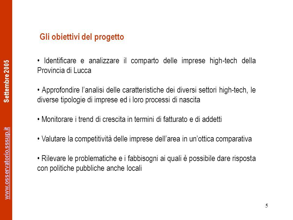 www.osservatorio.sssup.itwww.osservatorio.sssup.it Settembre 2005 26 Mercato (1) (n=17) Principale mercato di sboccoNumero impresePercentuale % Italia635,3 Europa423,5 Toscana317,6 Provincia211,8 Resto Mondo2 11,8 Più della metà delle imprese del campione opera principalmente in ambito nazionale, anche se per ben il 23,5% quello europeo è il mercato di riferimento e per quasi il 30% è il secondo mercato.