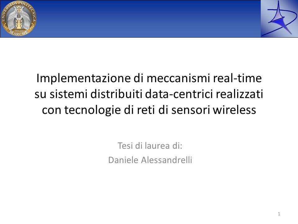 Implementazione di meccanismi real-time su sistemi distribuiti data-centrici realizzati con tecnologie di reti di sensori wireless Tesi di laurea di: