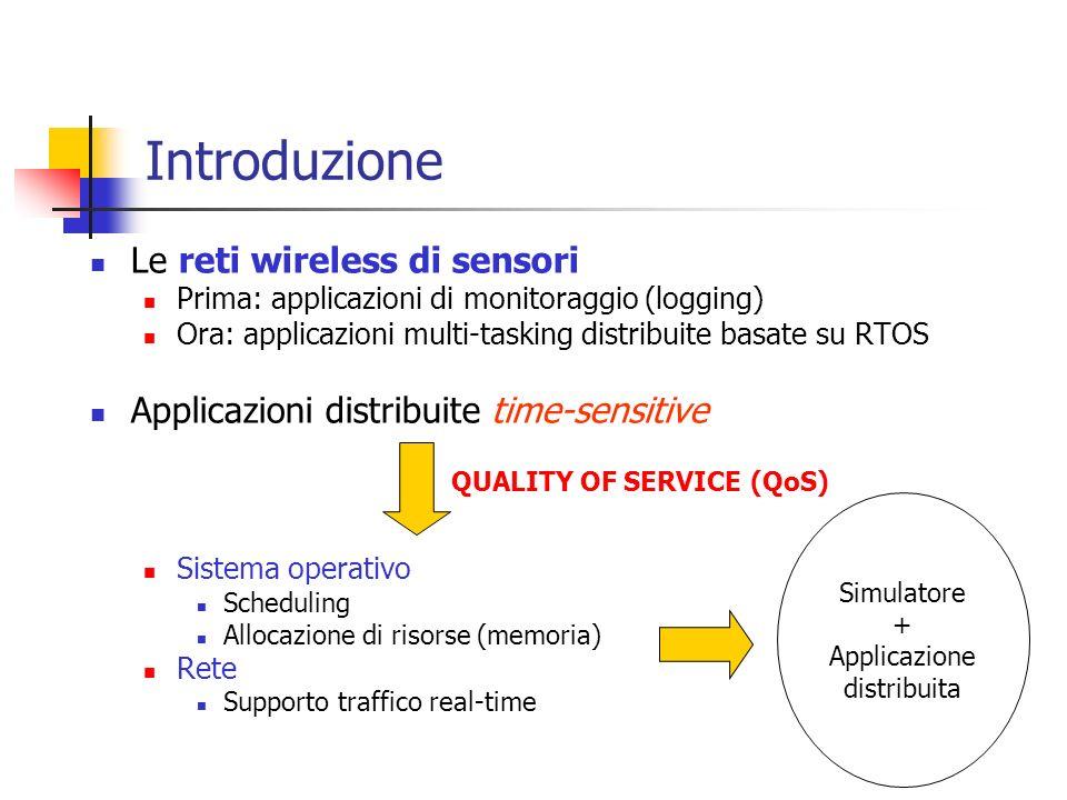 Introduzione Le reti wireless di sensori Prima: applicazioni di monitoraggio (logging) Ora: applicazioni multi-tasking distribuite basate su RTOS Appl