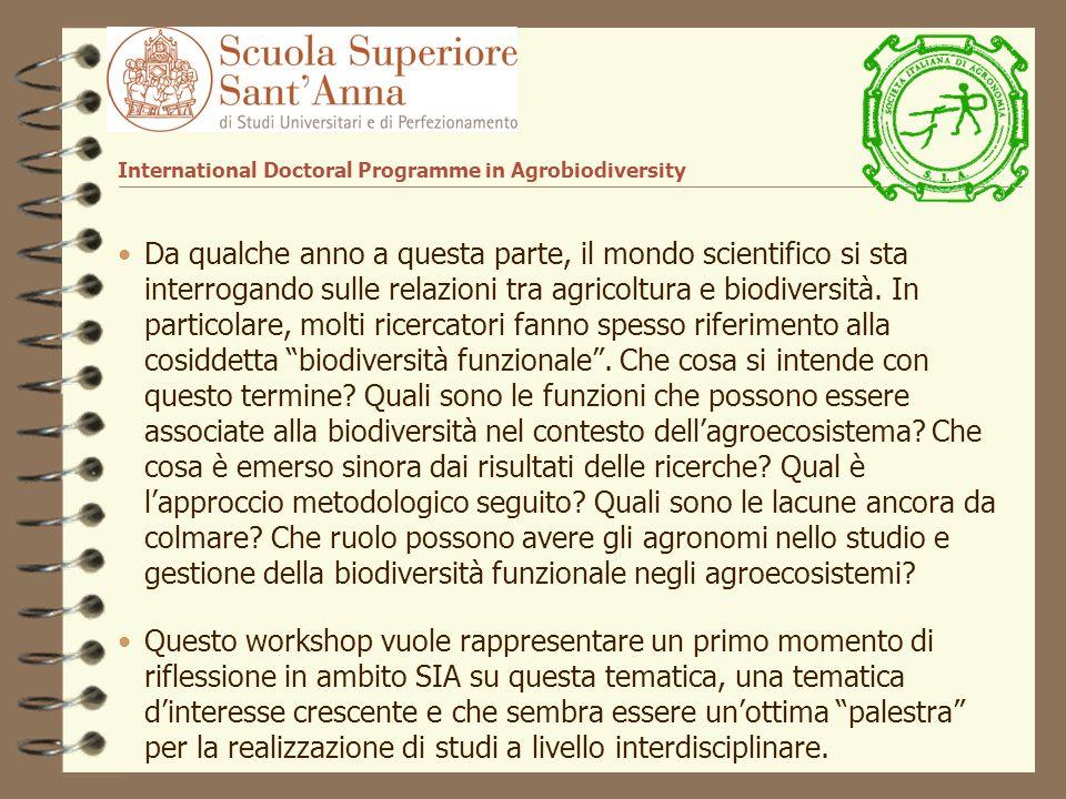 Da qualche anno a questa parte, il mondo scientifico si sta interrogando sulle relazioni tra agricoltura e biodiversità.