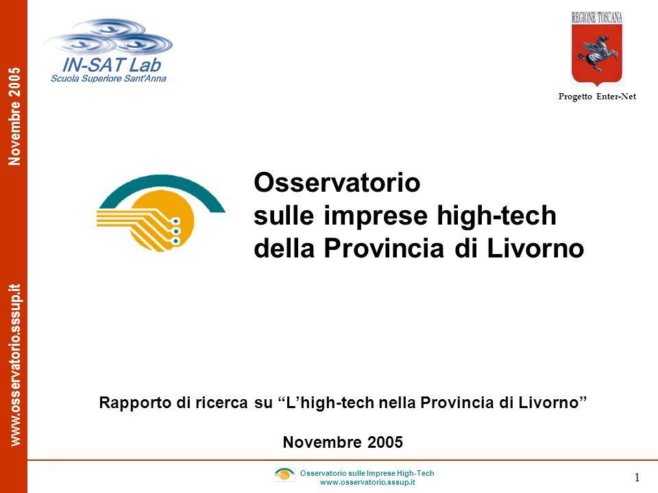 www.osservatorio.sssup.it Novembre 2005 Osservatorio sulle Imprese High-Tech www.osservatorio.sssup.it 1 Progetto Enter-Net Rapporto di ricerca su Lhi