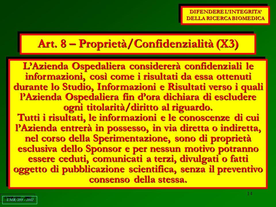 14 DIFENDERE LINTEGRITA DELLA RICERCA BIOMEDICA UMR/ISS - 2002 Art.