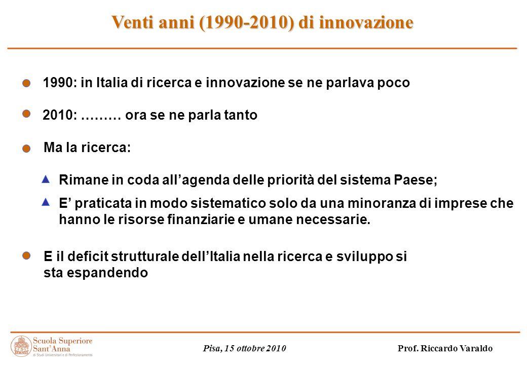 Venti anni (1990-2010) di innovazione Pisa, 15 ottobre 2010 Prof.