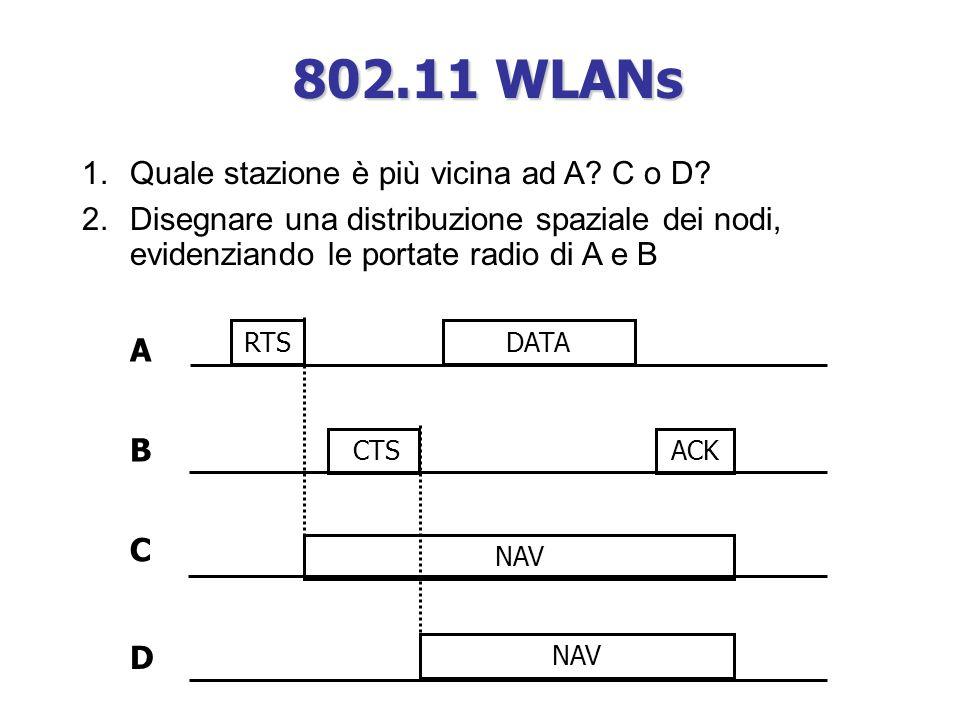 A DATARTS CTS NAV B C D 1.Quale stazione è più vicina ad A.