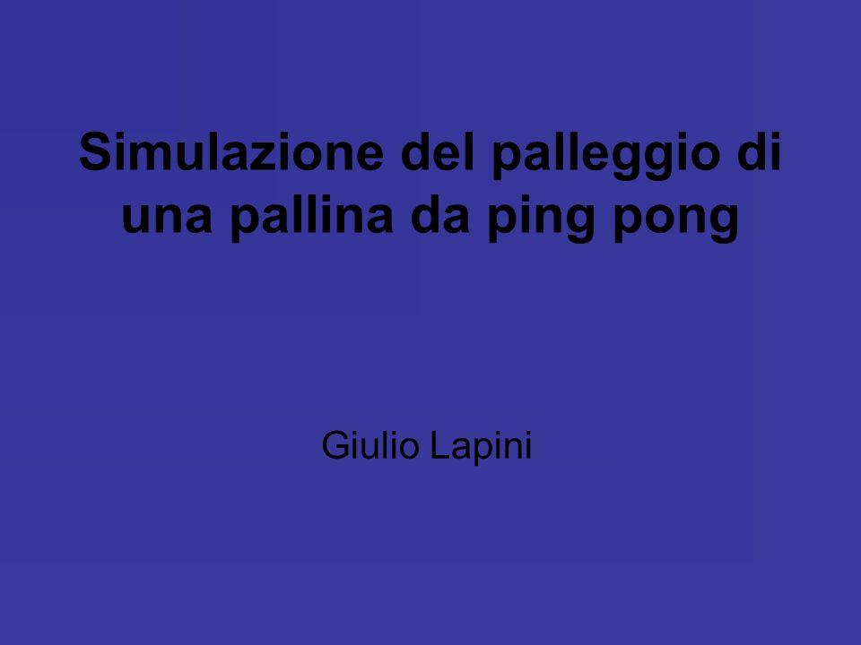 Simulazione del palleggio di una pallina da ping pong Giulio Lapini