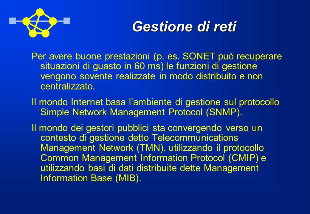 Gestione di reti Per avere buone prestazioni (p. es.