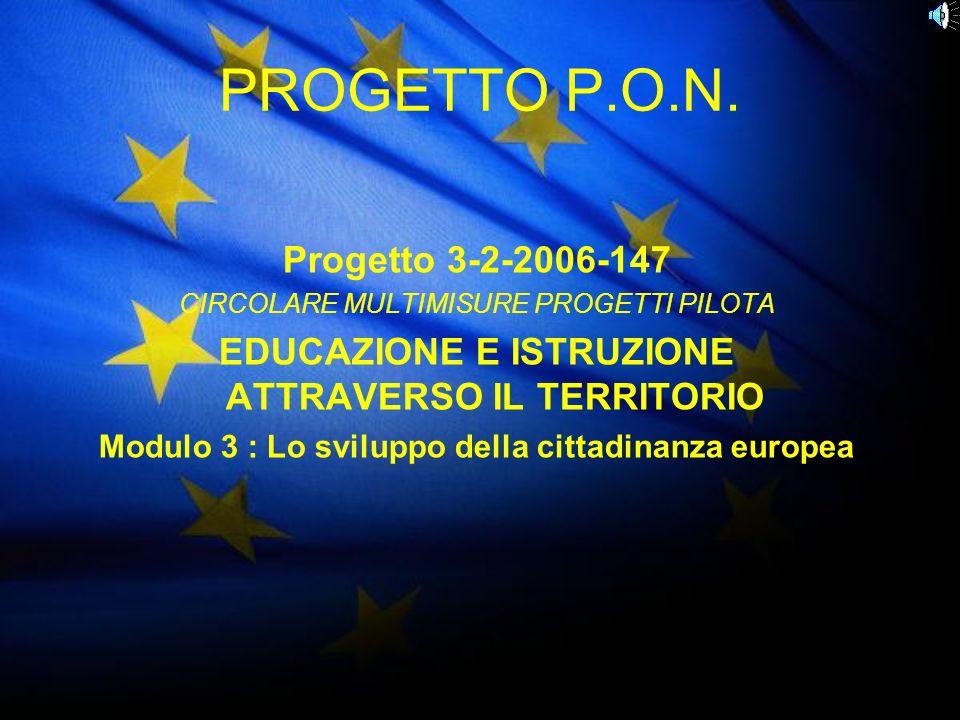 PROGETTO P.O.N. Progetto 3-2-2006-147 CIRCOLARE MULTIMISURE PROGETTI PILOTA EDUCAZIONE E ISTRUZIONE ATTRAVERSO IL TERRITORIO Modulo 3 : Lo sviluppo de