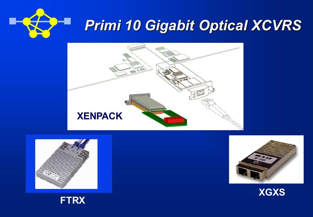 Primi 10 Gigabit Optical XCVRS XGXS FTRX XENPACK