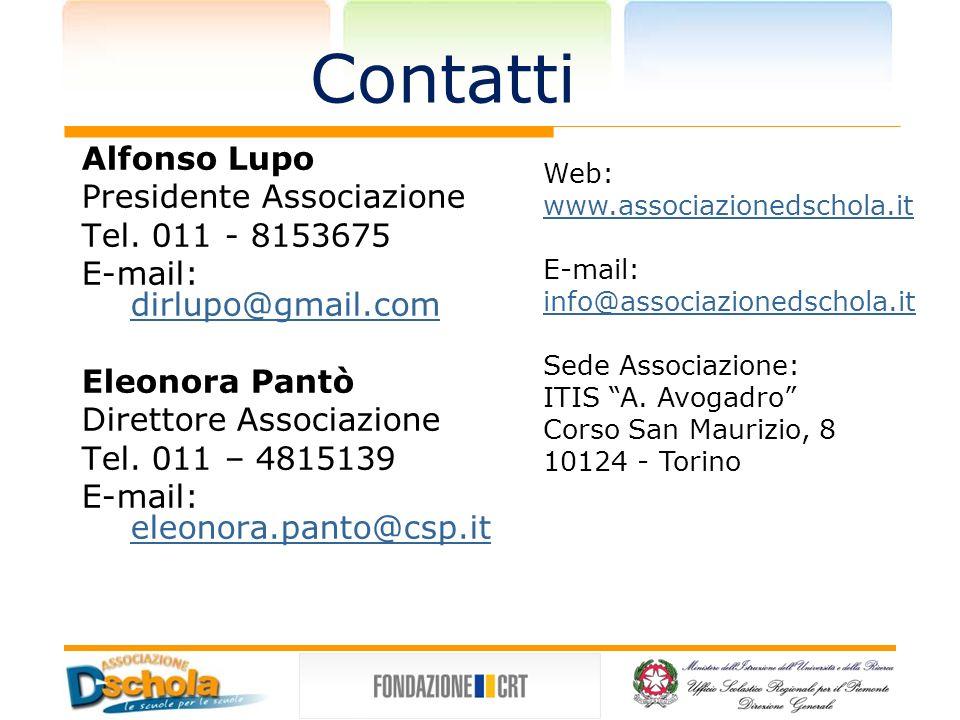 Contatti Alfonso Lupo Presidente Associazione Tel.