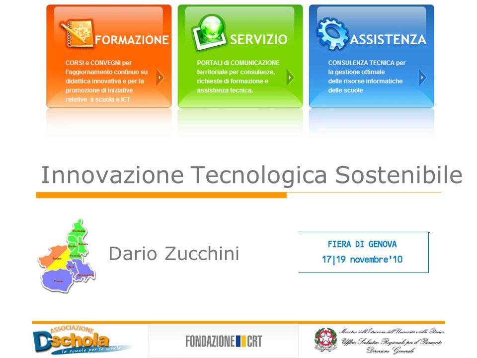 Innovazione Tecnologica Sostenibile Dario Zucchini